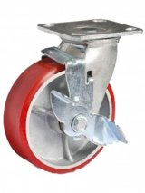 Колесо большегрузное полиуретановое (поворотное с тормозом) BKPPT