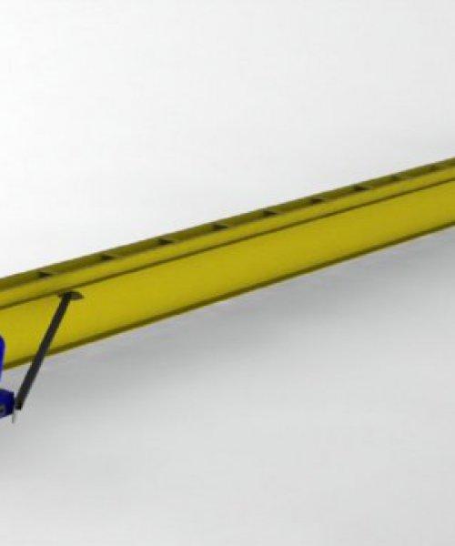 Кран мостовой электрический однобалочный подвесной г/п 1т L-12м Lпол.-13.2м