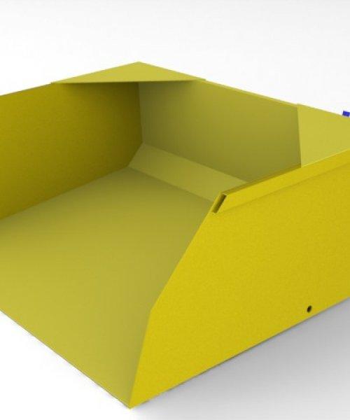 Ковш для вилочного погрузчика 5 т для объема 1 м^3