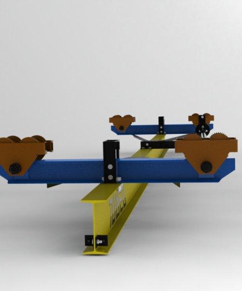 Кран ручной подвесной 5т - Пролет (4,5 м); Длина (5,7 м)
