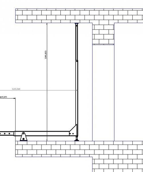 Переносной кран для стройки (установка между перекрытий)ПКСП
