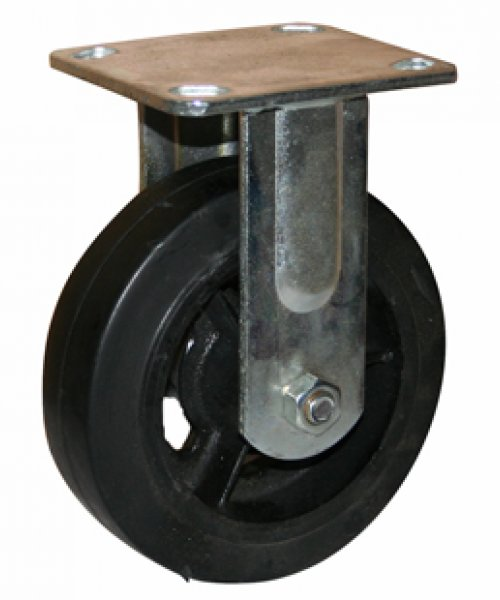 Большегрузное чугунное колесо с твердой резиной  BCHKTR100