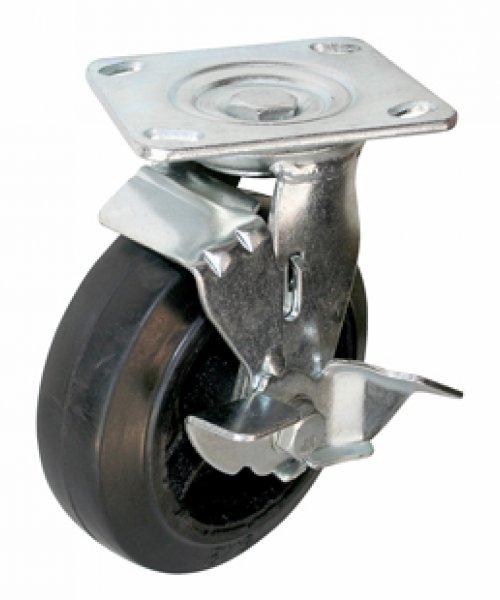 Большегрузное чугунное колесо с твердой резиной BCHKTRPT100