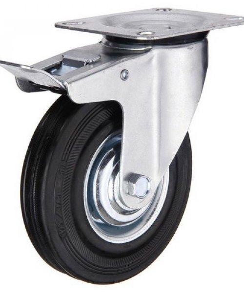 Промышленное колесо с черной резиной PRK4RPT