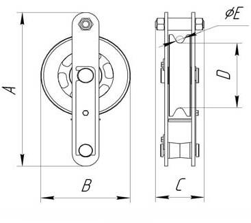 Блоки монтажные БМ 1,6-8 т (открытого типа)